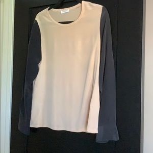 Equipment Black and Tan Blouse